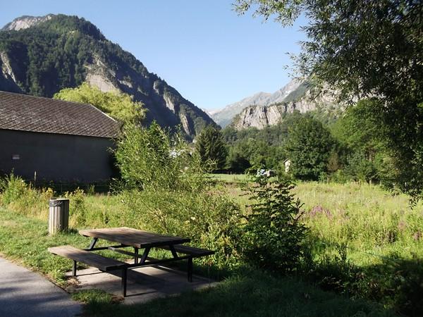 Vue de l'entrée de la Vallée de la Lignarre et du Col d'Ornon depuis la Paute.