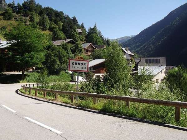 Le hameau de la Pallud (photo prise à la sortie).