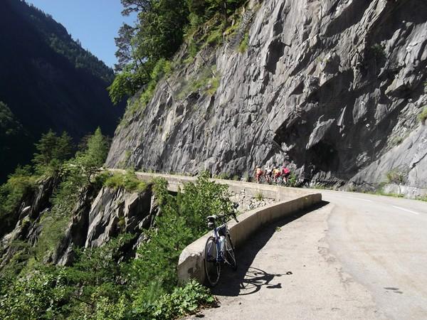 Les premières pentes du Col d'Ornon.