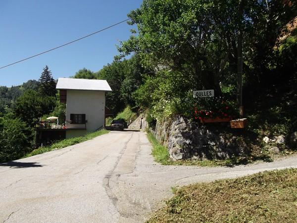 Entrée de Oulles, le finish est au-dessus du village !