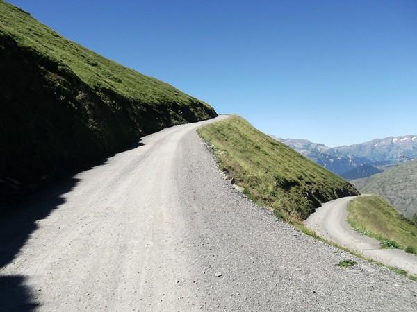 Dans la montée vers le Col St-Georges.
