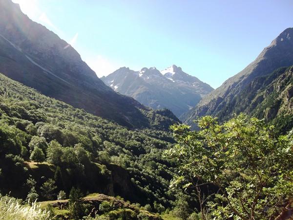 La Tête de Lauranoure et ses glaciers.