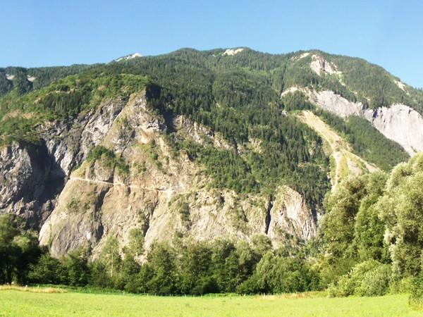 """A gauche, le Rochail (3022 m) caché derrière """"la Roche"""", pas mal mon terrain de jeu du jour !"""