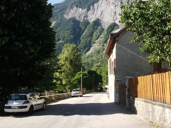 A la sortie de Bourg-d'Oisans.