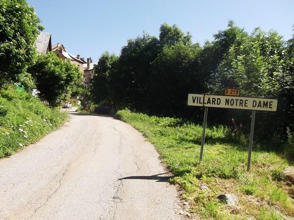 A l'entrée de Villard-Notre-Dame.