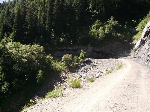 La piste du Col du Solude.