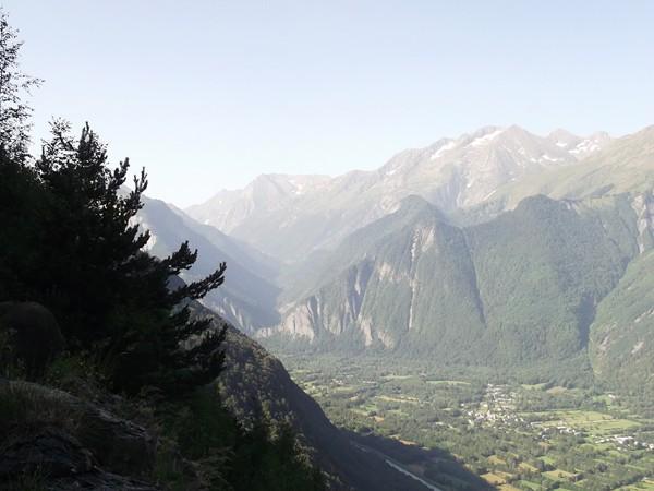 La Vallée de la Lignarre, accès au Col d'Ornon.