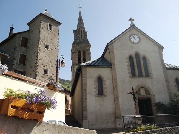 L'église de Huez.