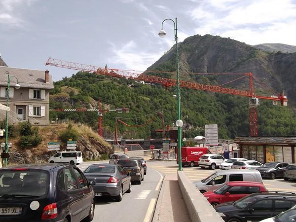 Travaux sur le Barrage du Chambon.