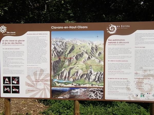 Point de départ de la randonnée pédestre vers le Lac des Quirlies.