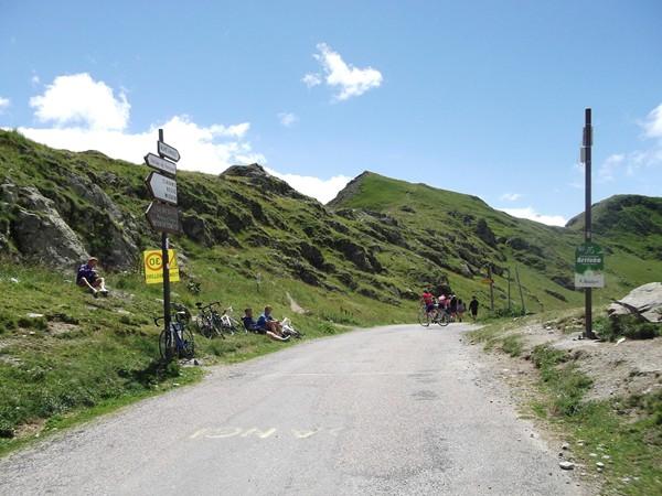 Arrivée au Col de Sarenne.