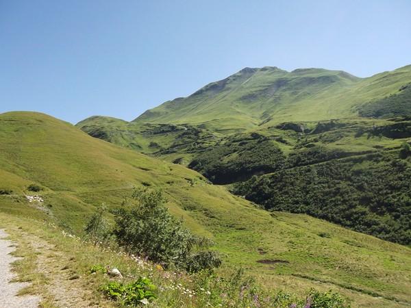 La Côte Belle où sont cachés les derniers lacets du Col du Sabot.