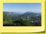 Dans la descente vers Culoz, panorama incroyable sur le Lac du Bourget et le Rhône.