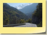 Vue sur les montagnes qui surplombent la vallée d'Hérémence.