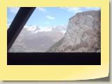 Vue sympa sur le Tsa de l'Ano (alt. 3368 m) et la Pointe de Bricola (alt. 3658 m) qui vont être bientôt masqués par le flanc Ouest de la Dent de Veisivi.