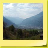 Une vue magnifique sur Brig et la vallée du Rhône.