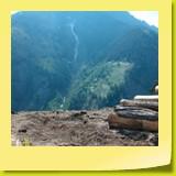 Le Glishorn (alt. 2525 m) paraît très imposant !