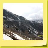 Fonte des neiges au-dessus des paravalanches.