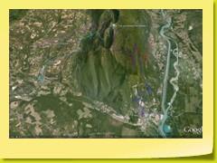 Vue des 4 routes du Col du Grand Colombier (orientation Nord)