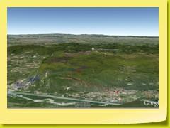 Vue des 2 routes CULOZ et ANGLEFORT de la face EST du Col du Grand Colombier