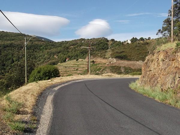 Dans la montée du Col d'en Calbo.