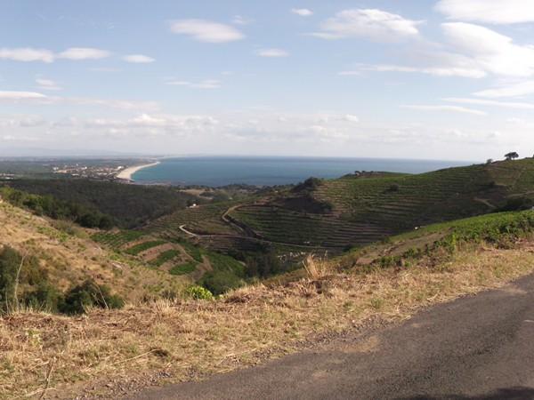 Le littoral vu depuis le Col de l'Arquette.