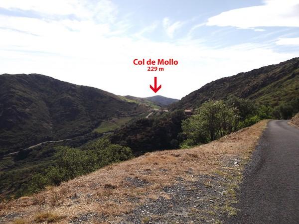 Le Col de Mollo en vue.