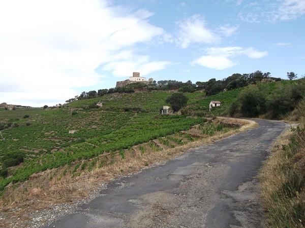 Fort St-Elme en vue, la route est dans un état épouvantable !